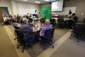 classroom presentation session
